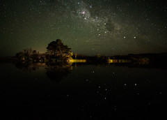 Using a mirror to simplify the stars (ajecaldwell11) Tags: maraetotarariver night milkyway ankh astrophotography stars light trees southerncross tide newzealand teawanga sky reflection hawkesbay caldwell water clouds