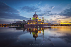 The Morning Faith (maxn9) Tags: sunrise putrajayamosque reflection bluehour malaysia