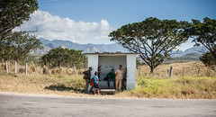 Cuba - On my way to Trinidad (Cyrielle Beaubois) Tags: 2016 cuba cyriellebeaubois décembre trinidad carribeans caraïbes people bus stop country side