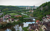 Harmony of Man and Nature (Lena and Igor) Tags: travel europe germany bavaria harburg landscape river reflection village roofs scenic water bridge idyll industry dslr nikon d40x nikkor 1855 romanticroad