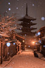雪の八坂通り [explore] (skycat1962) Tags: japan kyoto yasaka pagoda temple snow white nightview landscape outdoor winter wow