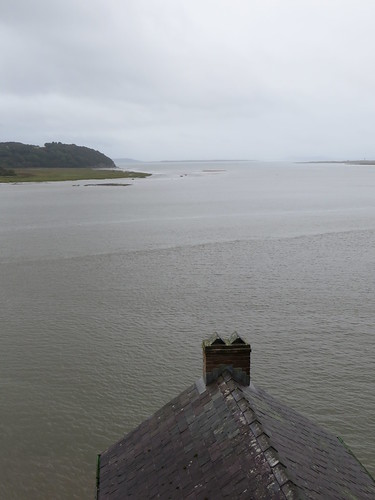 Laugharne - looking out over the Boat House