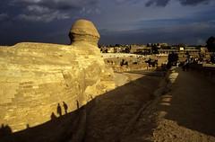 Ägypten 1999 (623) Kairo: Große Sphinx, Gizeh (Rüdiger Stehn) Tags: archäologie archäologischefundstätte sphinx grosesphinxvongizeh giseh gise giza aldschīza alǧīza ilgīza afrika ägypten egypt nordafrika nordägypten bauwerk sakralbau historischesbauwerk urlaub dia analogfilm scan slide diapositivfilm analog kleinbild kbfilm 35mm canoscan8800f unescowelterbe unescoweltkulturerbe nekropole altägypten ancientegypt misr unterägypten addiltā welterbe weltkulturerbe ägyptologie reise reisefoto winter menschen leute 1990er 1990s 1999 rainyweatheringiza