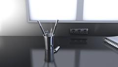 Cromo (equipo SKY) Tags: cinema4dstudio cinema4d 3d 4d interior render photoshop bolígrafo lapiz lapicero estudios universidad