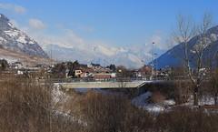 Branson (bulbocode909) Tags: valais suisse branson fully villages maisons montagnes nature arbres hiver neige nuages ponts bleu paysages