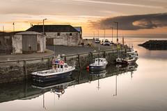 Port William Harbour (TrotterFechan) Tags: sunset clouds port portwilliam harbour boats
