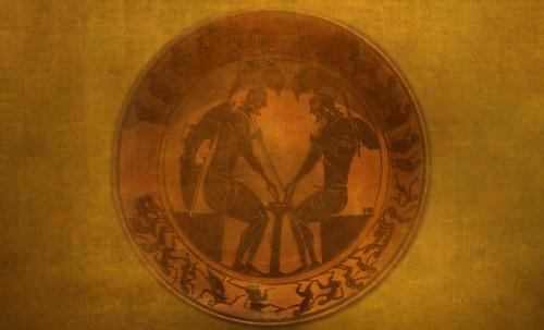 "Petteia - Ludus Latrunculorum  / Iconografía de las civilizaciones helenolatinas • <a style=""font-size:0.8em;"" href=""http://www.flickr.com/photos/30735181@N00/32522204675/"" target=""_blank"">View on Flickr</a>"
