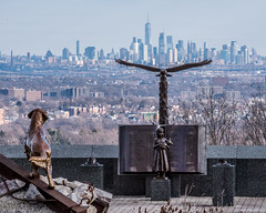 Never Forget (brucenmurray) Tags: freedom memorial freedomtower tribute neverforget montclair 911memorial 911 statue firstrespondertribute nj eagle firstresponder rescuedogs nycnycskyline eaglerock fdny