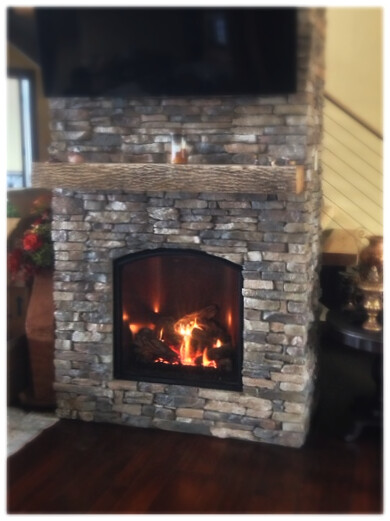 Mendota FV-41 Arch Direct Vent Fireplace. Chattanooga, Tn.
