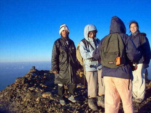 Climbing volcano Rinjani summit 3726 meter Lombok island Indonesia