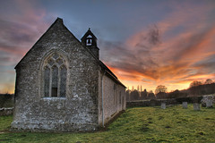 St. Oswald's sunset (Robert Silverwood) Tags: sunset england sky church topv111 stone wow wonder topf50 perfect gutentag topv1111 surreal churchyard walls topf100 oxfordshire hdr oxon stoswalds photomatix interestingness29 i500 widford tophdr 123f100
