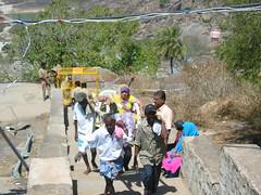 "The easy ""ride"" up the hill - palanquins (arunram25) Tags: india statue festival ceremony 2006 karnataka jain bahubali monolithic shravanabelagola mahamastakabisheka abisheka"