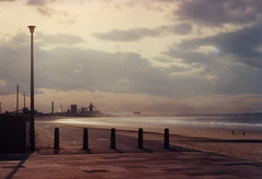 Redcar Looking Towards South Gare (BL259) Tags: light sea england sky film beach clouds coast mood north scan northsea predigital middlesbrough northeast walkers teesside lusco fusco redcar boro steelworks