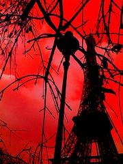 Red Eiffel (Carineva) Tags: paris rouge noir tour eiffel bronly