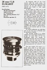 Leica Elmarit 28mm f/2.8 ( Rebours) Tags: leica lens 28mm specs info guide lit information elmarit