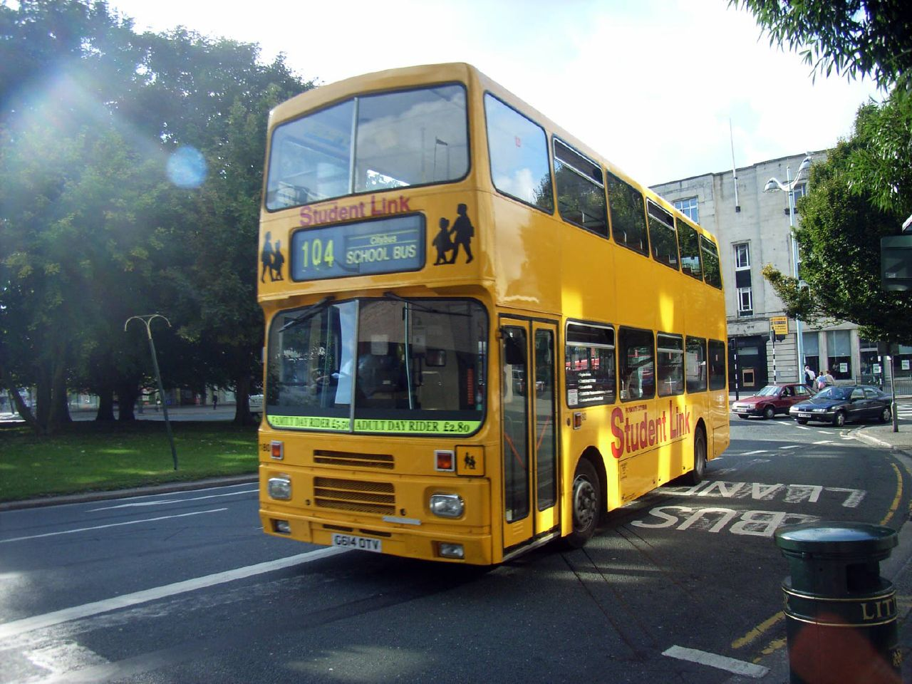 Plymouth Citybus 180 G614OTV