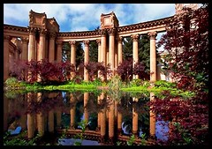 Palace of Arts Reflection (Mrs. Terry) Tags: goldengatepark ca architecture reflections landscapes framed sanfranciscoca instantfave palaceofarts photosbyterry copyright2007byteresamforrest