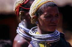 COLORFUL INDIA (BoazImages) Tags: people woman india topv111 naked women colorful asia forsakenpeople tribal rings jewlery tribe orissa hilltribe earing bonda subcontinent travelphotography hindustan