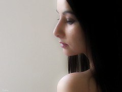 deep (sole) Tags: woman selfportrait girl asian eyelashes profile longhair x spanish brunette shoulder solea introspection egomania abigfave megashot