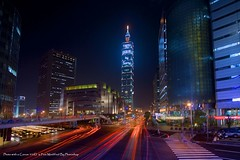 Taipei 101 #1 (Fishtail@Taipei) Tags: night taiwan taipei taipei101 myfavorite lighttrail