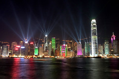 A Symphony of Lights ((^_^) wellwin) Tags: light topf25 night wow hongkong central bestshot victoriaharbor scoreme50 judgmentday57