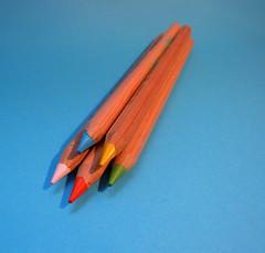 New colouring pencils :o) (ZedBee | Zo Power) Tags: blue macro colors pencils coloring crayons