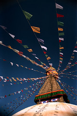 Nepalese Flag Day (Kenny Maths) Tags: nepal stupa buddhist kathmandu bodnath bodnathstupa 85points interestingness107