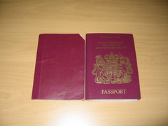 Old and new passports