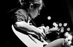 Kaki King (Belltown) Tags: bw music guitar live performance conversions