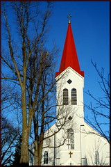St. Stephens steeple, Croghan, NY (Lida Rose) Tags: topf25 beautiful steeple lewiscounty lewiscountyny lidarose croghanny interestingness340 ststephenscatholicchurch explore12mar06