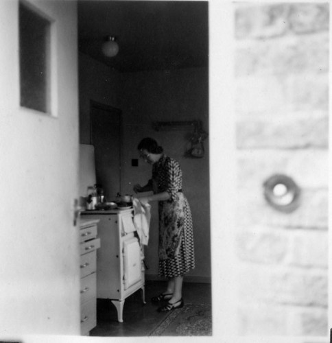 Mum in the  High Wycombe kitchen