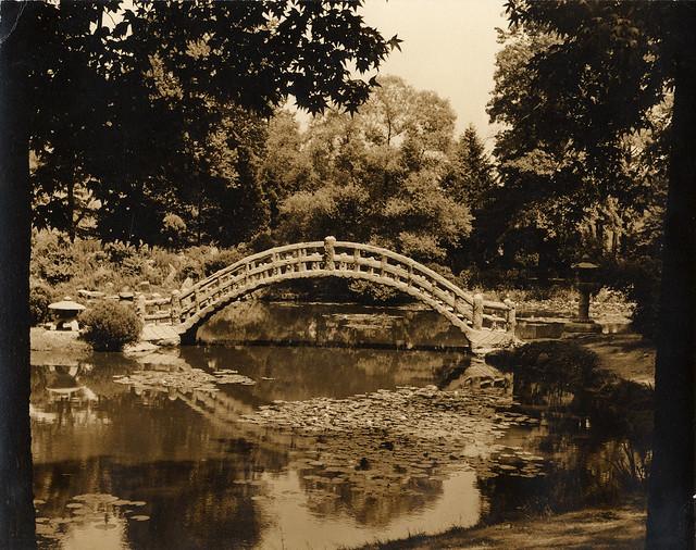 old bridge over pond