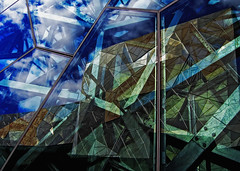 federation square, melbourne (australia) (aumbody images) Tags: street city blue windows light sky urban reflection building window glass wall architecture clouds buildings square mirror australia melbourne victoria federation games federation square commonwealth