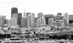 He Took to the Woods and Wandered in It (Thomas Hawk) Tags: sanfrancisco california city urban blackandwhite bw usa building architecture blackwhite downtown unitedstates 10 unitedstatesofamerica william financialdistrict area transamerica transamericapyramid transamericabuilding pereira fav10 williampereira williamlpereira pereria