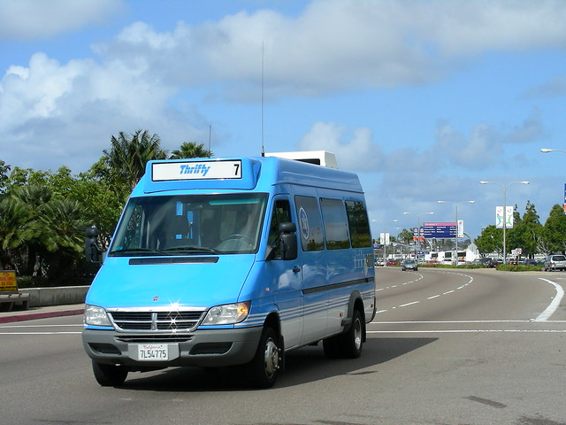 bus airport sandiego dodge van thrifty sprinter dodgesprinter