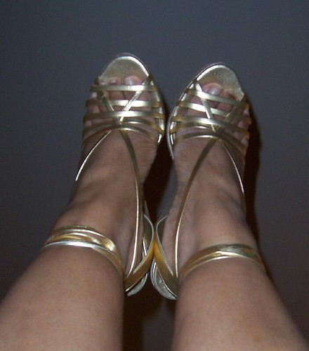Gold Wedge Sandals by BCBGirl
