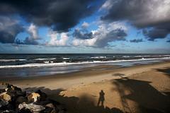 Self-portrait (fd) Tags: ocean california shadow sky beach me clouds landscape oceanside themecompetition tccomp052 lightproofboxcom utatafeature