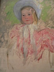 Simone in a Blue Bonnet 1903 Mary Cassatt 1