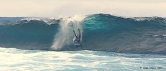 Body Board Surfing the reef breaks (SparkyLeigh) Tags: hawaii break bodyboarder bodyboardersurfingreef