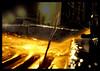gold is flooding the streets (kiplingflu) Tags: water yellow night gold favme drain sewer riool