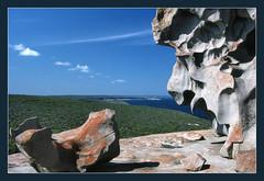 Remarkable Rocks - The lion head (iPhotograph) Tags: wow geotagged rocks australia 1995 southaustralia kangarooisland lionhead 1on1 remarkablerocks 123nature 123travel geodir90 geolat3604804498807628 geolon1367569633940885
