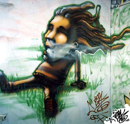 Rasta Graffiti Art Graffiti Paint Rasta