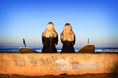 Surfer Girls on Wall (nabadilla) Tags: surf surfer lajolla surfergirl nickabadilla