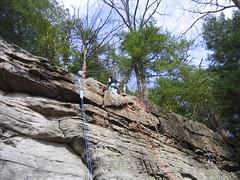 First Rappel (kerch) Tags: westvirginia rockclimbing coopersrock stateforest