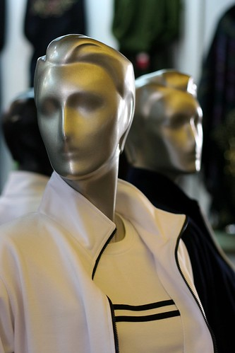 You find some rather interesting mannequins in the Yichang clothes market. Here is the melted-face look.