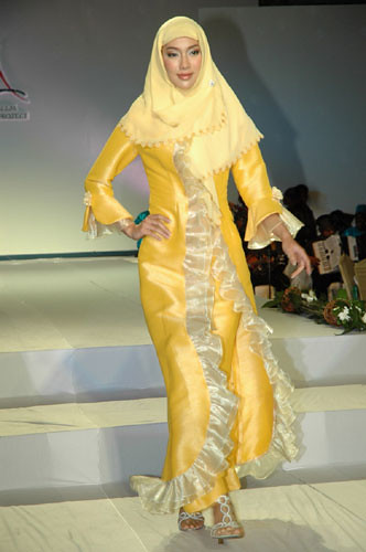 Elegant Muslim Fashion in Yellow Gallery Jilbab