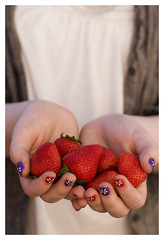 Cole with Strawberries (Lara Ferroni) Tags: food fruit strawberries