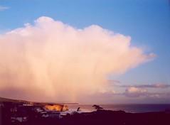Raincloud - Cumulonimbus (s0ulsurfing) Tags: ocean sea sky seascape beach water clouds landscape island bay coast 2006 isleofwight coastline wight freshwater cumulonimbus swain freshwaterbay s0ulsurfing coastuk