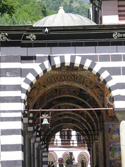 Archway of the main chapel (p-and-h) Tags: travelling monastery bulgaria rila