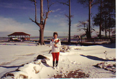MaGee and the frozen lake (greenelfmom) Tags: lake frozenlake magee lakewaccamaw